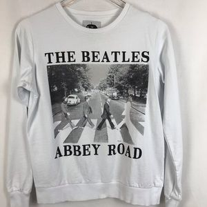 The Beatles Tops - The Beatles sweatshirt Abby Road White And Black